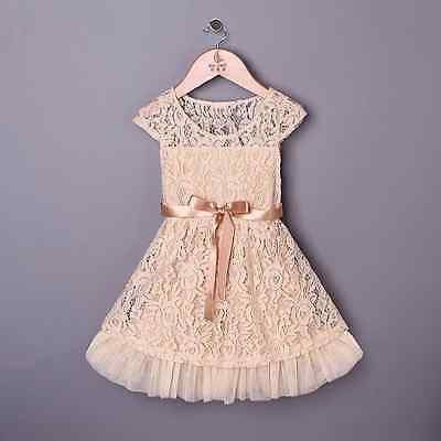 Bohemian Vinatge Beige Lace Dress Holiday Dress Wedding Dress