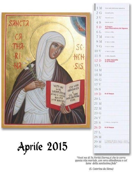icone sacre-Mirabile Ydio: Aprile :Icona di Santa Caterina da Siena