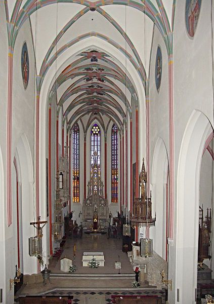 Interior of the Cathedral of the Holy Spirit in Hradec Králové (East Bohemia), Czechia
