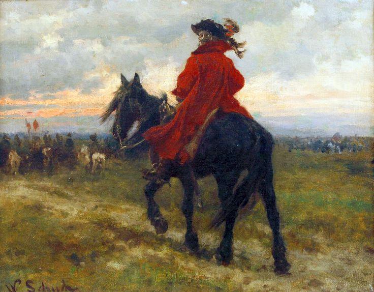 German reiter on campaign, Thirty Years War- by Werner Schuch