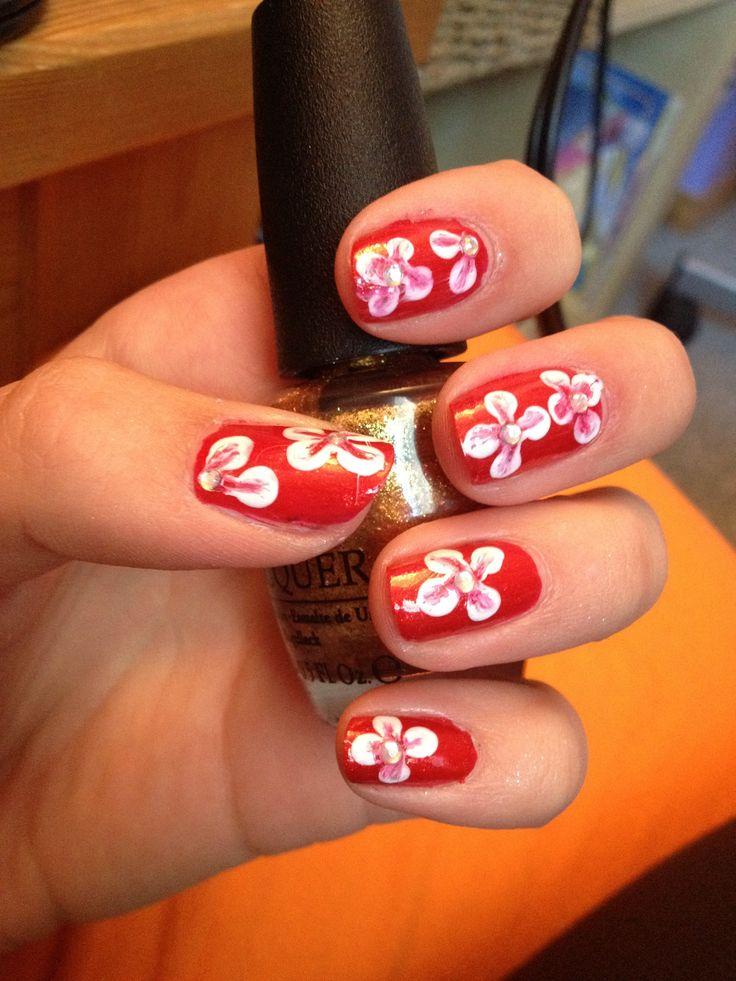 Nail+Hawaiian+Flowers | Hawaiian flower nail art! | Nails - Die Besten 25+ Hawaiian Flower Nails Ideen Auf Pinterest Mit
