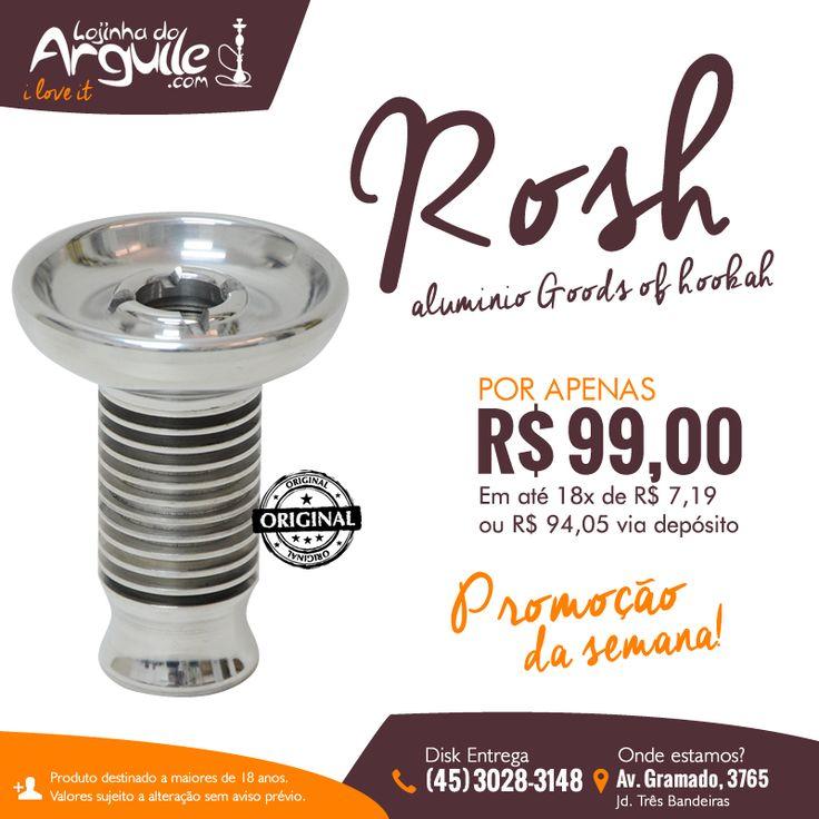 Rosh de alumínio Goods of hookah R$ 99,00 Em até 18x de R$ 7,19 ou R$ 94,05 via depósito  http://www.lojadoarguile.com.br/rosh-de-aluminio-goods-of-hookah