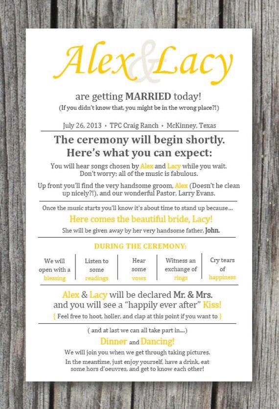 Best 25+ Wedding programs ideas on Pinterest | Ceremony programs ...