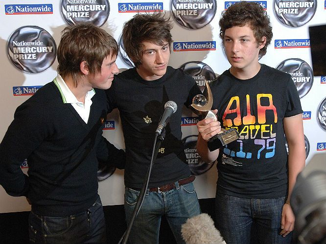 In 2006 the band's debut album wins the Mercury Music Prize and Album Of the Year at both the Q and NME Awards. They won Best British Breakthrough  & Best New Band...