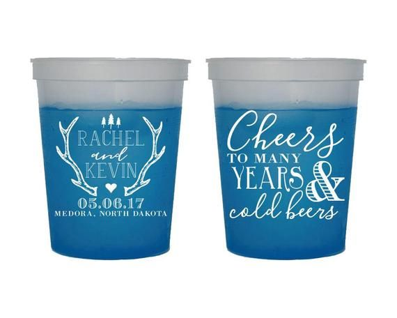 Wedding Reception Cups Wedding Cups Color Changing Cups 1873 Personalized Cups Party Cups Anniversary Party Cups Mood Cups Party Cup