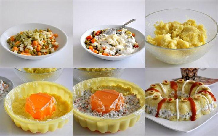 Kumpir severlere duyurulur. :) Kumpir Salata Tarifi Malzemeler: 7-8 adet orta boy patates 2 çorba kaşığı tereyağı 1 çay bardağı rendelenmiş kaşar peyniri 1 çay kaşığı karabiber 1 tatlı kaşığı tuz Ketçap Mayonez _DSC0372 (Medium) Arasına ; 1 kavanoz garnitür 5-6 adet kornişon turşu 1 su bardağı krema kıvamında süzme yoğurt 1 yemek kaşığı elma sirkesi 1 yemek kaşığı zeytinyağ (Normal sıvı yağ da olur.) 3 çorba kaşığı mayonez Turşulu zeytin mart (Small) hazırlanışı: Patatesleri haşlayın ve…