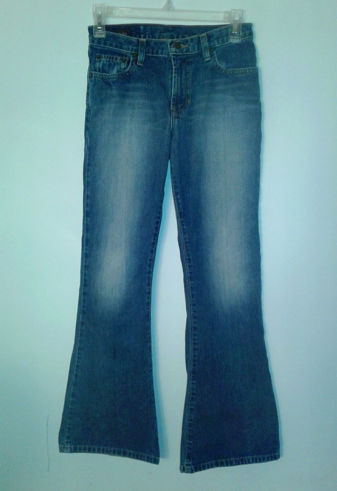 ABERCROMBIE Girls Jeans  432-5J   Size 12   Blue Denim 100% cotton used nice