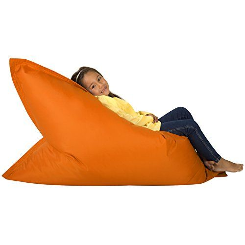 Hi-BagZ KIDS Bean Bag 4-Way Lounger - ORANGE Bean Bags Outdoor Floor Cushion - 100% Water resistant Childrens Bean Bags - The UK Furniture Store
