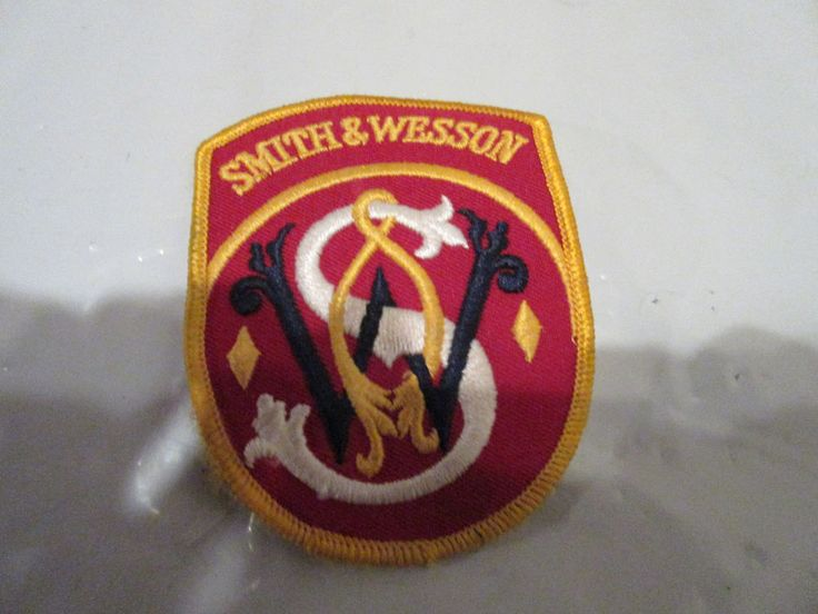 Vintage Smith & Wesson cloth patch shooting gun  rifle hunting  #SmithWesson
