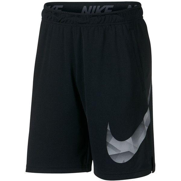 Big & Tall Nike Dry Training Shorts ($40) ❤ liked on Polyvore featuring men's fashion, men's clothing, men's activewear, men's activewear shorts, grey, mens activewear shorts and mens big and tall activewear