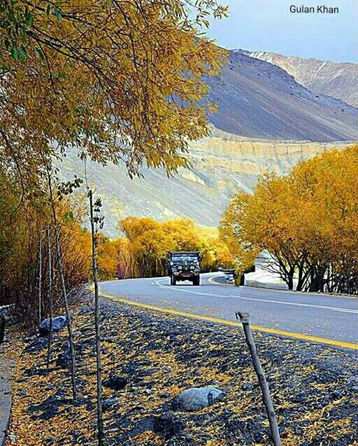 Awesome beauty of Karakoram highway near Khunjerab pass Hunza valley Gilgit Baltistan Pakistan