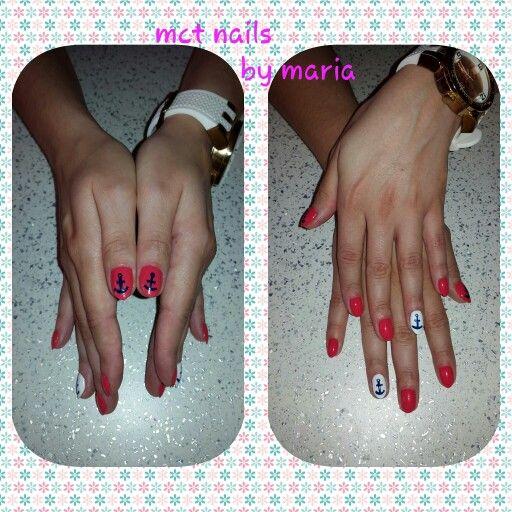Manicure with gel polish and naivy nailart #nails #nailart #manicure #thessaloniki