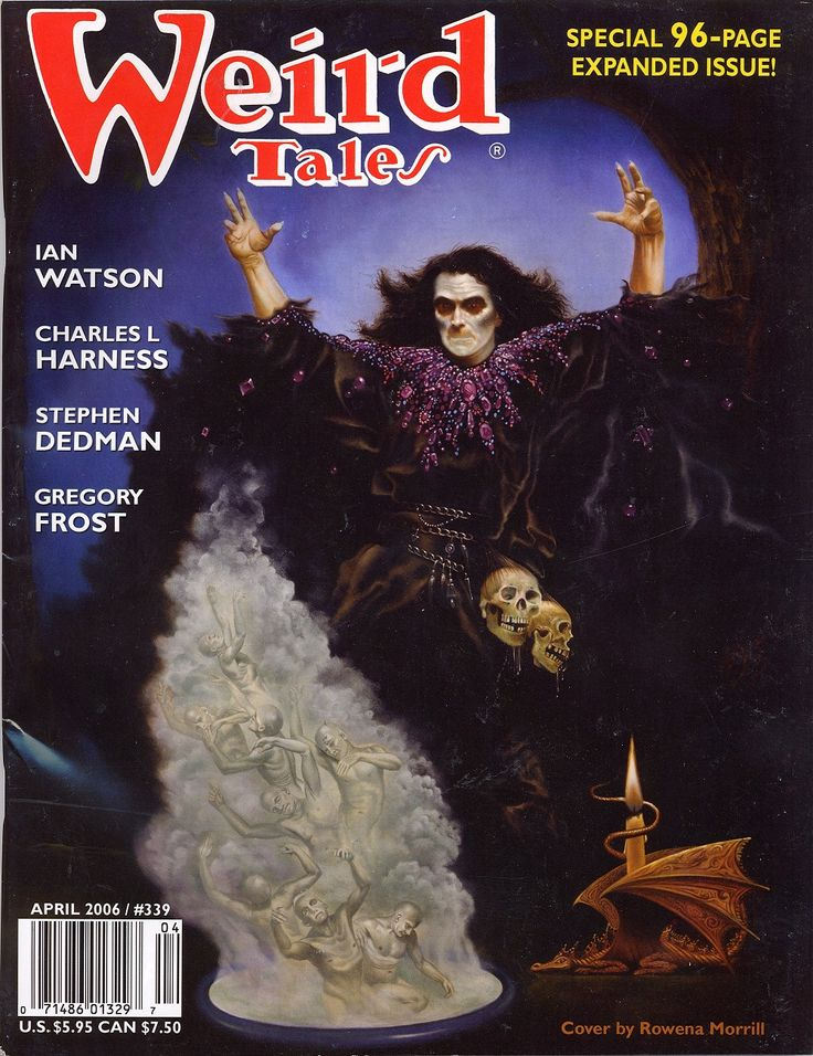 April 2006 cover for the rebooted Weird Tales Magazine.