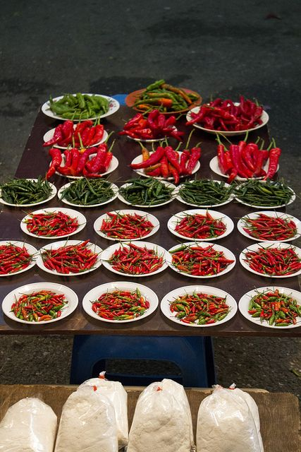 Brunei night market chillies