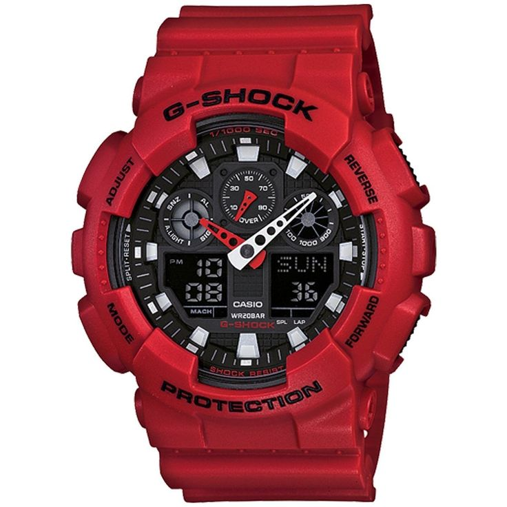 G-SHOCK Mens GA-100 Limited Edition Wrist Watch Red  On Sale