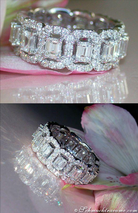 Glamorous Diamond Eternity Ring, 3,82 cts. g-vs1/si WG18K