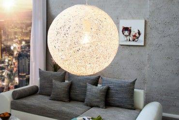 Stylische Hängeleuchte COCOON M in weiß 35cm Lampe
