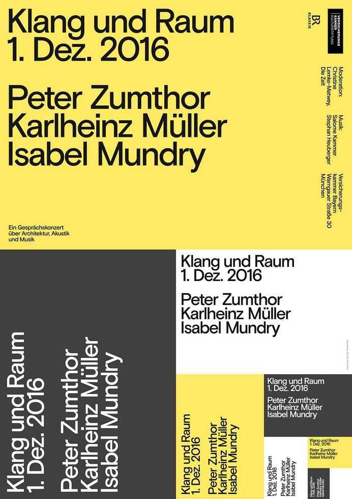 Klang & Raum: Peter Zumthor, Karlheinz Müller, Isabel Mundry