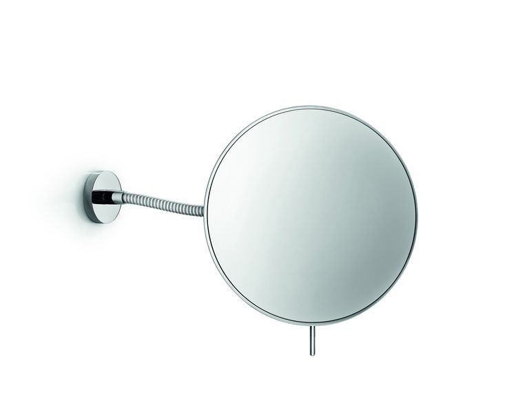 Linea Wall Mounted Cosmetic Makeup Magnifying Mirror, Brass Polished Chrome
