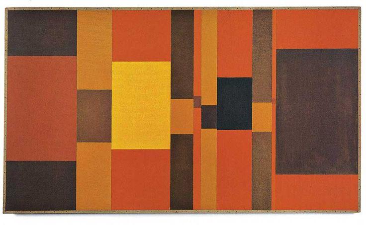 Hélio Oiticica. Grupo Frente, 1956. Óleo sobre madeira 67,8 cm × 117,2 cm.