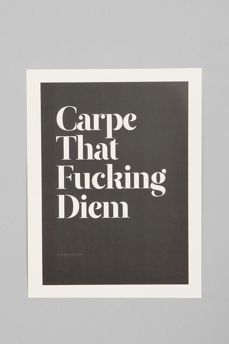Wordboner for Society6 Carpe Print  #UrbanOutfitters