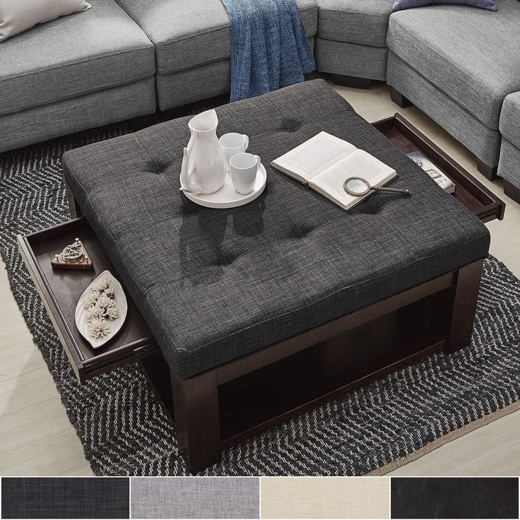 Square Or Rectangle Coffee Table best 20+ ottoman coffee tables ideas on pinterest | tufted ottoman