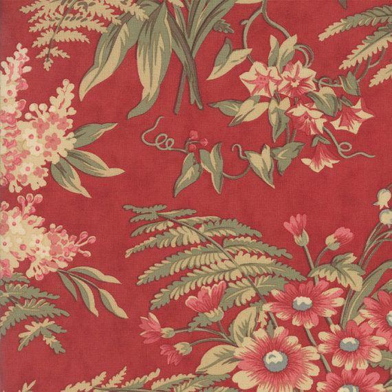 Moda fabric Jan Patek Fern Hill 2180-12...Sold in continuous  cut 1/2 yard increments