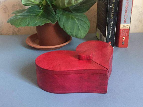 Heart shaped jewelry organizer box handmade Valentine's