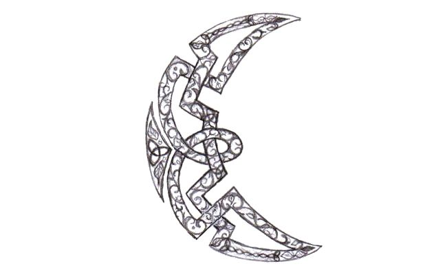 celtic crescent moon tattoo source http linksservice com celtic moon ...