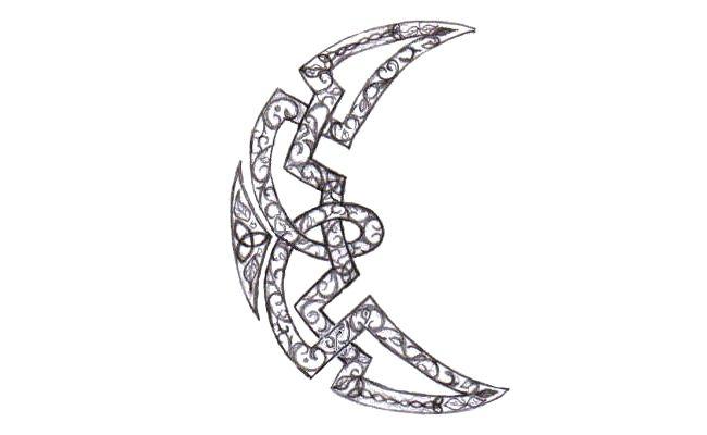 celtic crescent moon tattoo source http linksservice com celtic moon ...