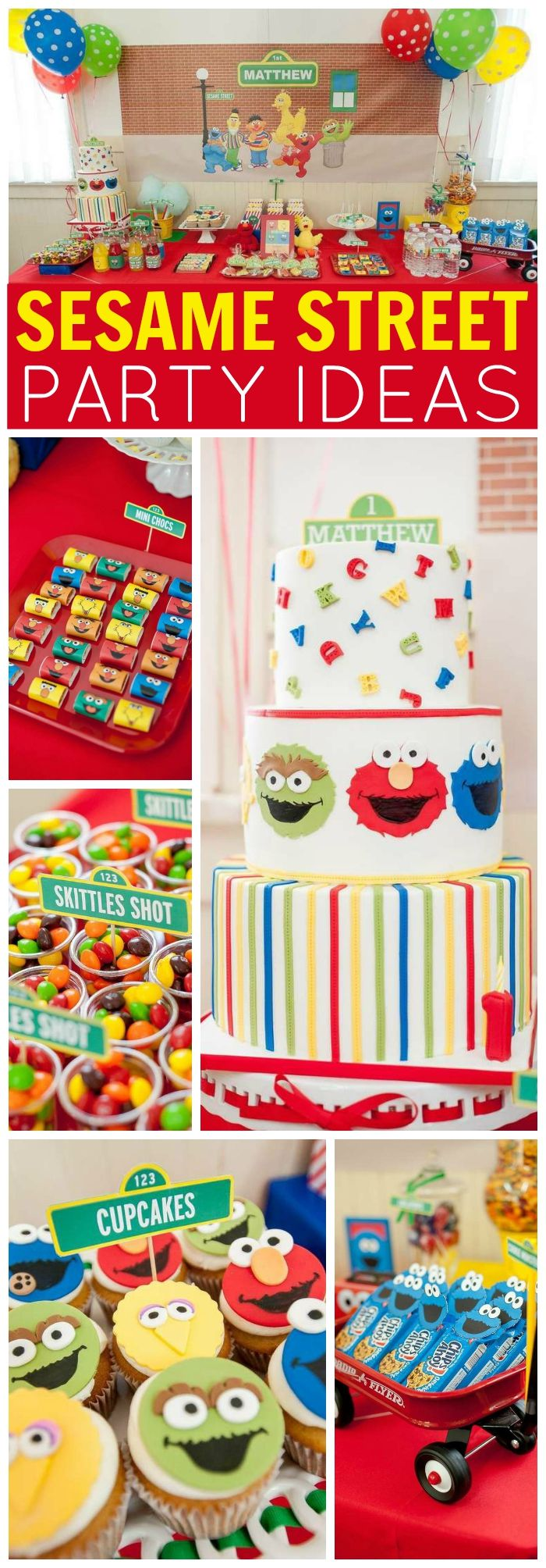 Elmo 1st birthday party ideas birthday party sesamestreet - Love This Colorful Sesame Street Birthday Party See More Party Ideas At Catchmyparty Com