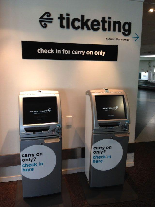 air nz airport check in kiosk - Google Search