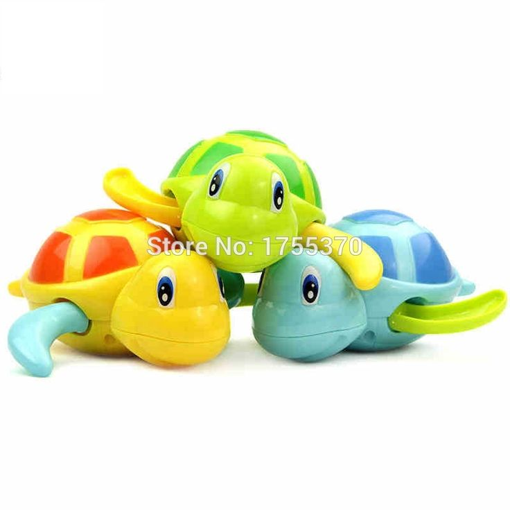 Little Turtle Clockwork Dabbling Swimming Tortoise Baby Bath Toys As Gift For Kids