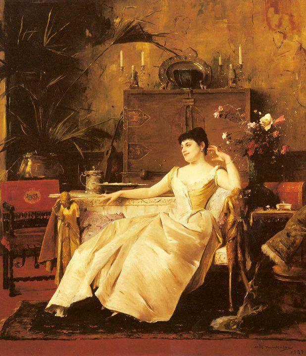 Munkácsy Mihály (1844-1900) - Soutzo hercegnő portréja