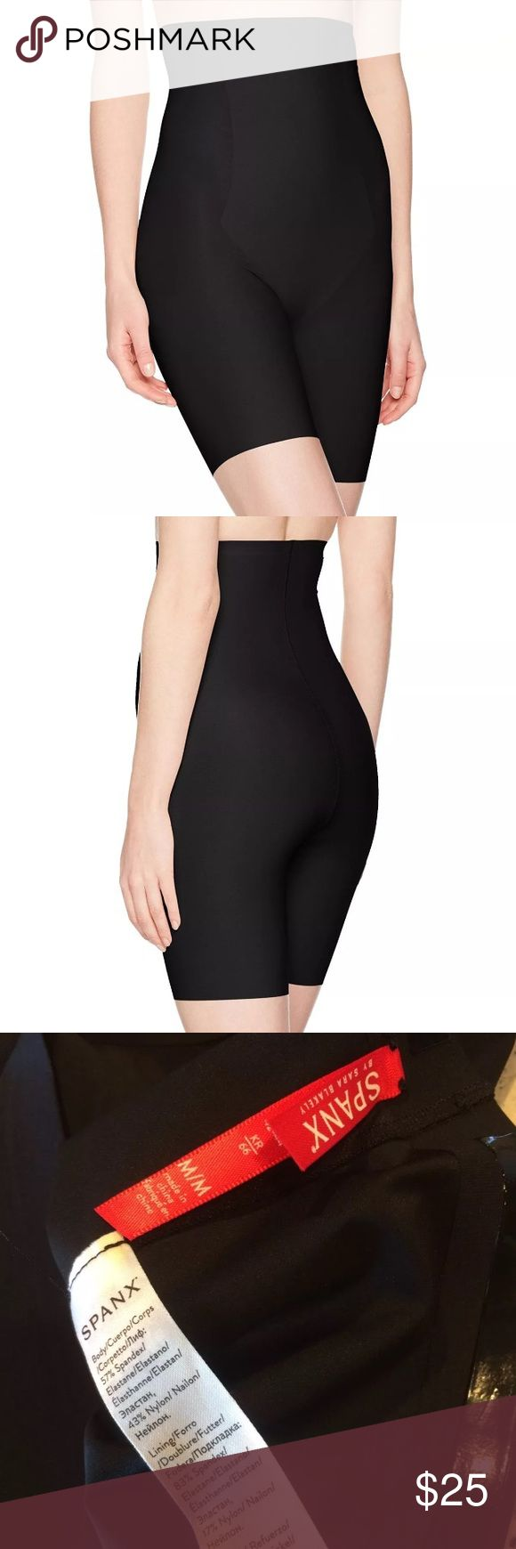 $72 NEW SPANX Thinstincts Targeted High Waist Shor $72 NEW  SPANX Thinstincts Targeted High Waist Shorts Black 10006R ~M~  New without tags/packaging. In stores now for $72 + Tax  Style #10006R Black High waist  Size M  High end department store shelf pull- new without tags. May have had customer contact  **Had deodorant on side which has been washed and ready to wear!  PRICED TO SELL FAST! PLEASE ASK ANY QUESTIONS BEFORE PURCHASE, THANKS CHECK OUT MY OTHER DESIGNER HANDBAGS AND CLOTHING…