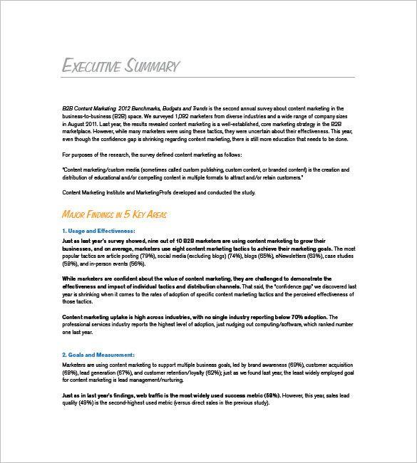 Marketing Plan Executive Summary Template New 9 Marketing Plan Executive Summary Templates Executive Summary Template Marketing Plan Template Executive Summary
