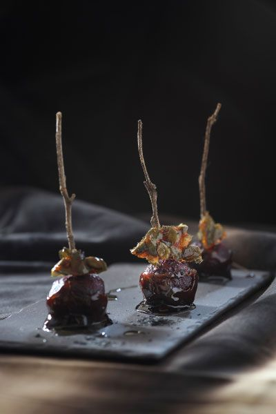 Balsamic Toffee Beets with Spicy Pumpkin Seed Praline | Crush Online