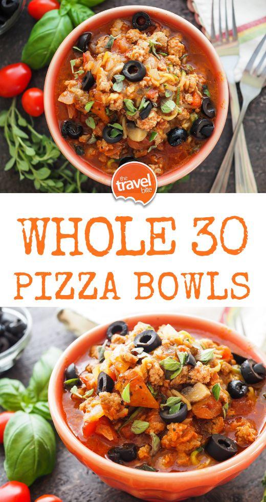 Whole 30 Pizza Bowls