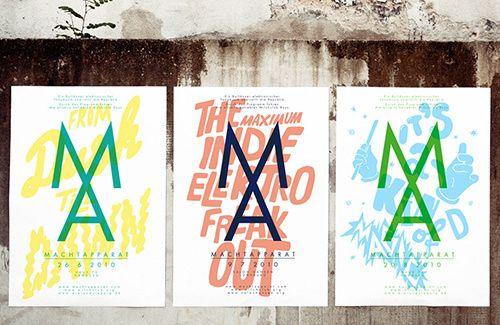 Frankfurt studio Arndt Benedikt and its bright, dynamic and joyous poster designs