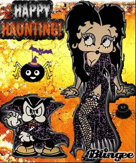 Animated Betty Boop Halloween