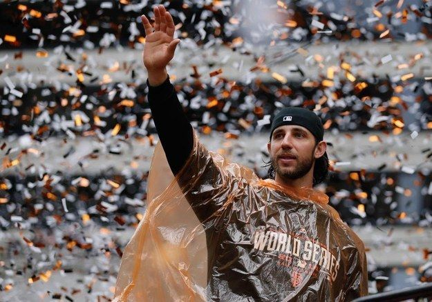 The man, the myth, the Madison. | 11 Of The Most Glorious Photos From The Giants World Series Parade