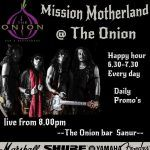 Live Tonight from 8pm @The Onion Bar & Restaurant