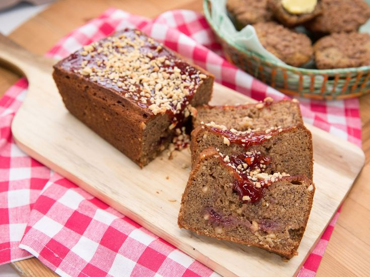 Peanut Butter and Jelly Banana Bread recipe from The Kitchen via Food Network