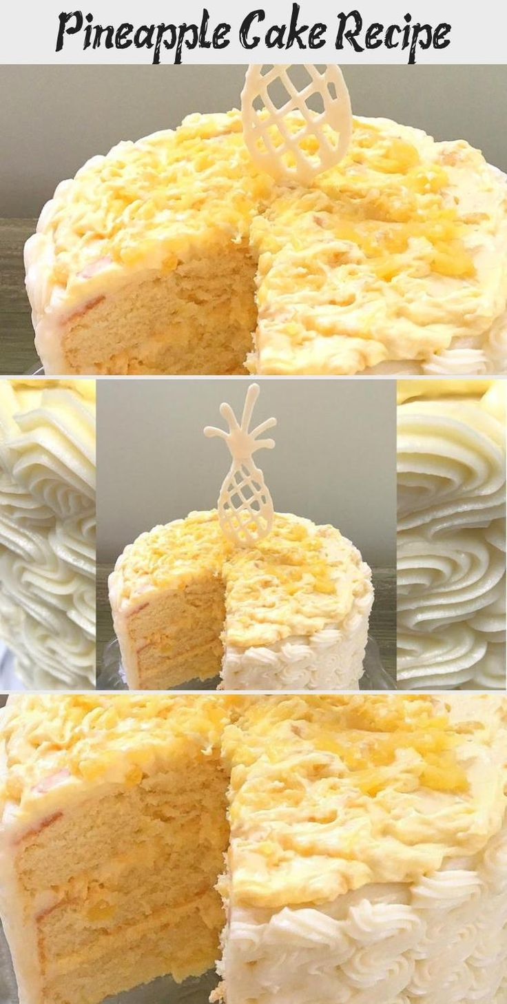 En blog en blog in 2020 pineapple cake recipe