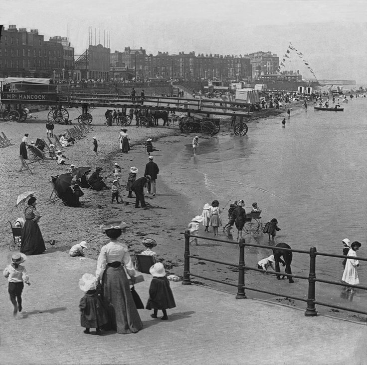 Kent, Margate. The Beach in Victorian Times