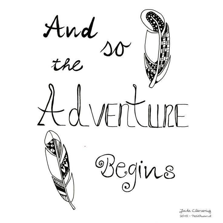 And so the adventure begins... Start van een nieuw avontuur, wat gaat het op je pad brengen? You never know :D