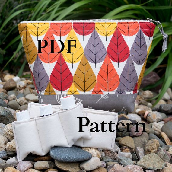 PDF Pattern & Tutorial ~ Essential Oil Case ~ Total of 16 Paddded Pockets ~ for PERSONAL USE Only