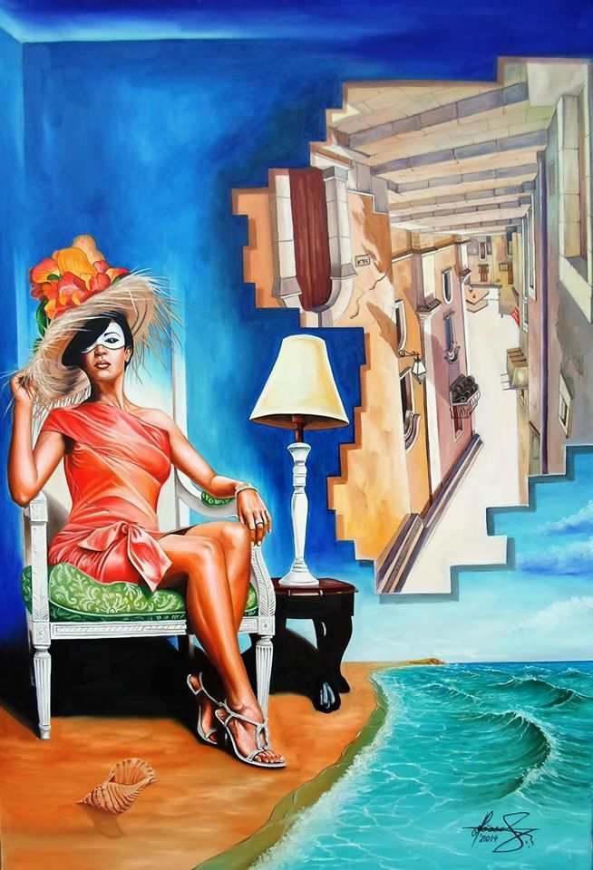 """""""Queen of Illusions"""" - Oil on canvas.   #art #painter #painting #surrealism"""