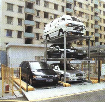 This below ground stacker handles 3 cars or can be grouped together to handle 9 cars | Car Parking Systems | Car Stackers - SAE Parking Solutions