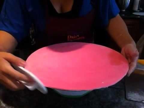 Como hacer una base para pastel (cake board) - YouTube